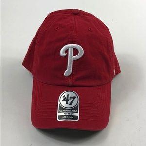 47 Accessories - Philadelphia Phillies 47 Brand Red Ball Caps G74 080bf4e0359